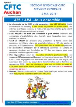 ARS / ARA…tous ensemble !