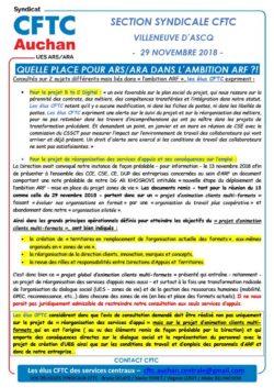 Quelle place pour ARS/ARA dans l'ambition ?