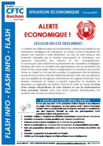DROIT D'ALERTE ECONOMIQUE MAI 2019