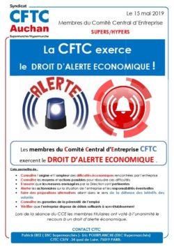 DROIT D'ALERTE CCE EXPLOITATION