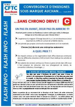 FIN DE LA CONVERGENCE D'ENSEIGNES POUR CHRONO DRIVE