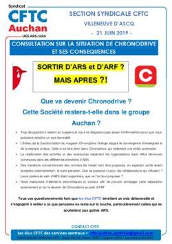 CONSULTATION SUR LA SITUATION DE CHRONODRIVE ET SES CONSEQUENCES