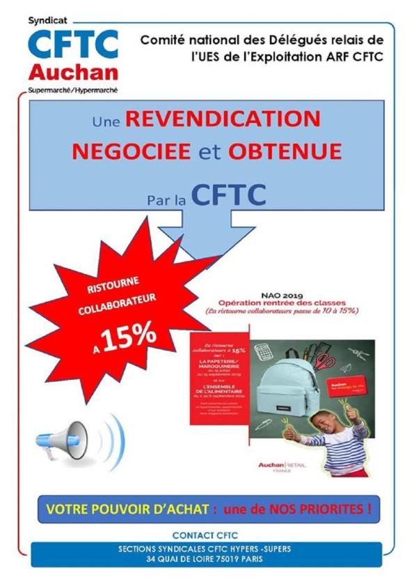 Carte Auchan Ristourne.Ristourne Rdc Nao 2019 Cftc Groupe Auchan