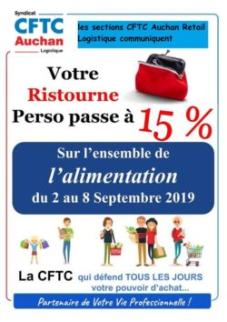 ristourne alimentaire Septembre Log