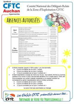 ABSENCES AUTORISÉES