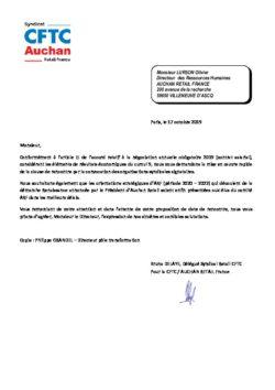 DEMANDE DE MISE EN OEUVRE DE LA CLAUSE DE RENCONTRE NAO 2019