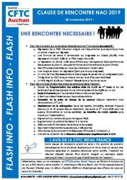 Clause de rencontre NAO 2019