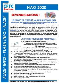 REVENDICATIONS NAO ARF 2020