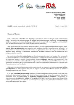 Courrier Intersyndical Ministre du Travail