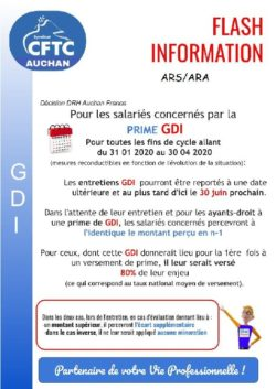 GDI et mesures COVID 19 ARS/ARA