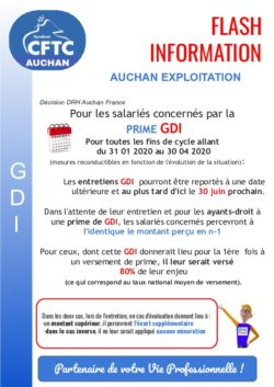 GDI et mesures COVID 19 Hypermarchés