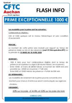 Prime 1000€ 2020 Logistique
