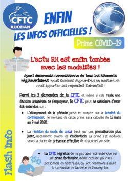 tract Prime Covid 19 officielle