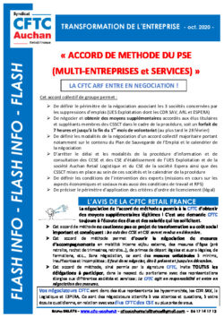 ACCORD DE METHODE PSE – LA CFTC ENTRE EN NEGOCIATION !