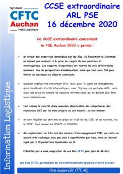 CCSE extraordinaire ARL du 16 Décembre 2020