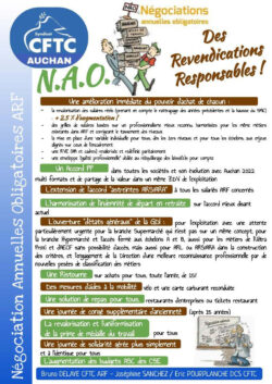 N.A.O 2021 . Des revendications responsables